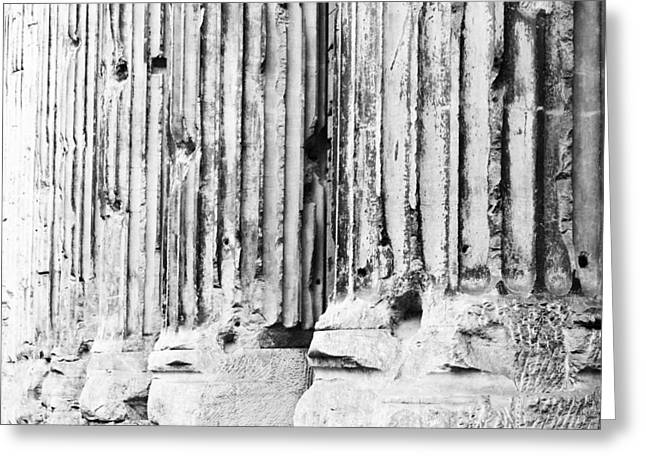 Marble Stone Greeting Cards - Roman Columns Greeting Card by Susan  Schmitz