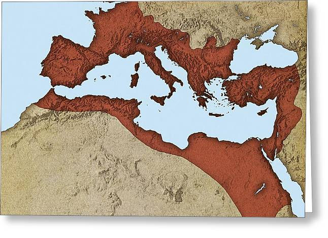 Northern Africa Greeting Cards - Roman Empire, Artwork Greeting Card by Mikkel Juul Jensen