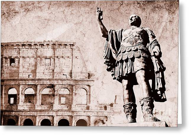 Imperia Greeting Cards - Roman Empire Greeting Card by Stefano Senise