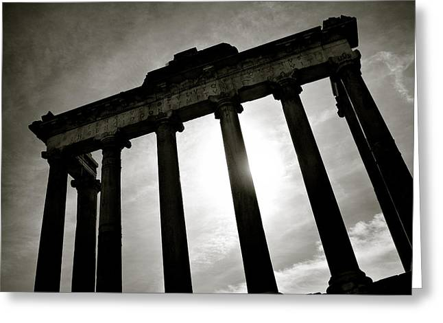 Fora Greeting Cards - Roman Forum Greeting Card by Dave Bowman