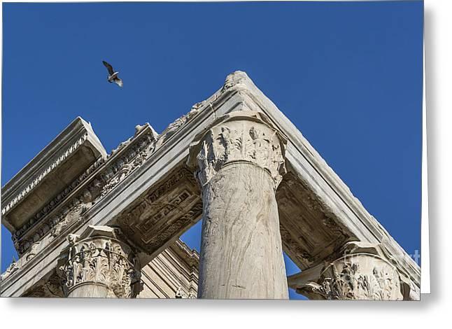Miranda Greeting Cards - Roman Forum Detail Greeting Card by John Greim