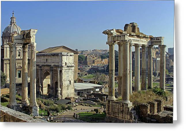 Roman Forum  Greeting Card by Tony Murtagh