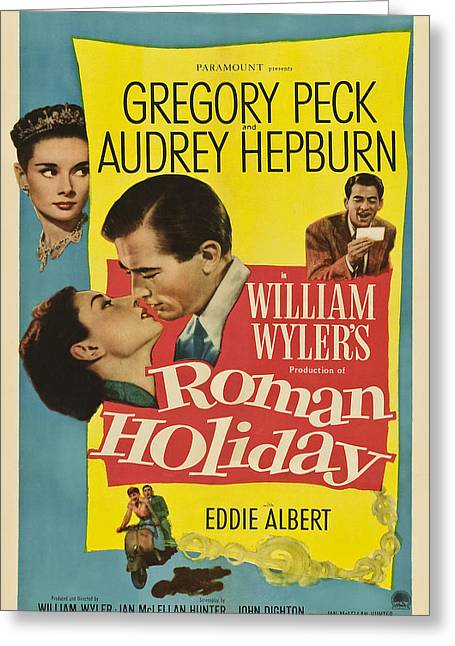 1953 Movies Greeting Cards - Roman Holiday - 1953 Greeting Card by Nomad Art And  Design