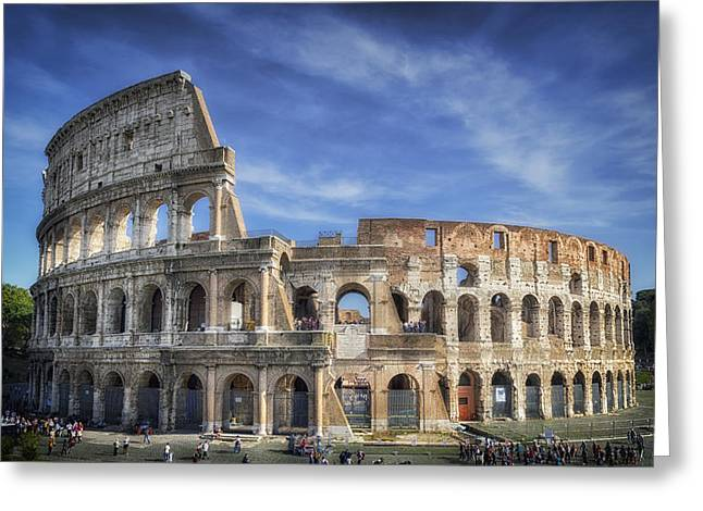 Stones Greeting Cards - Roman Icon Greeting Card by Joan Carroll