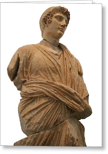 Roman Citizen Greeting Cards - Roman Man In Toga Greeting Card by Tracey Harrington-Simpson