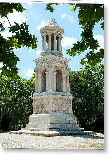 St Remy Greeting Cards - Roman Mausoleum At Glanum Greeting Card by Panoramic Images
