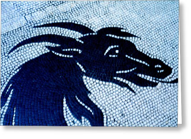 Goat Ceramics Greeting Cards - Roman Mosaic Goat Greeting Card by Mair Hunt