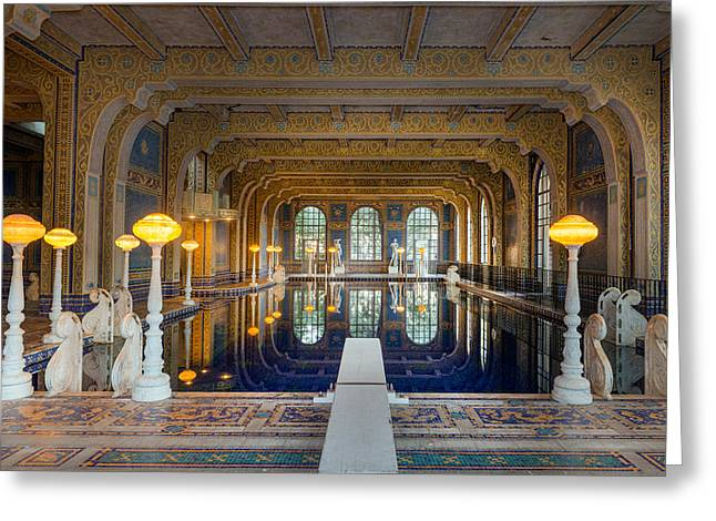 William Randolph Greeting Cards - Roman Pool at Hearst Castle  Greeting Card by Carol M Highsmith