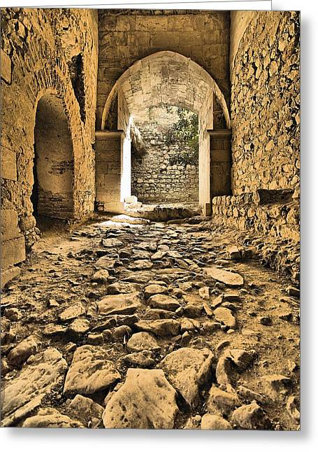 David Letts Greeting Cards - Roman Road Greeting Card by David Letts