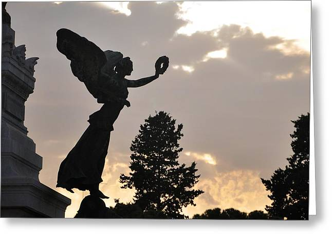 Roman Statue Greeting Cards - Roman silhouette Greeting Card by Matt MacMillan