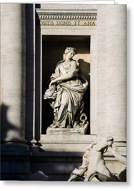 Roman Statue Greeting Cards - Roman Statue Greeting Card by Mark Greenberg
