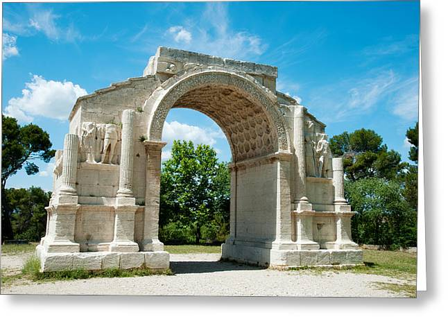 St Remy Greeting Cards - Roman Triumphal Arch At Glanum Greeting Card by Panoramic Images