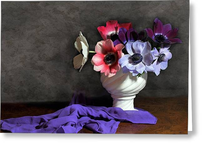 Silk Scarf Greeting Cards - Romance Greeting Card by Diana Angstadt