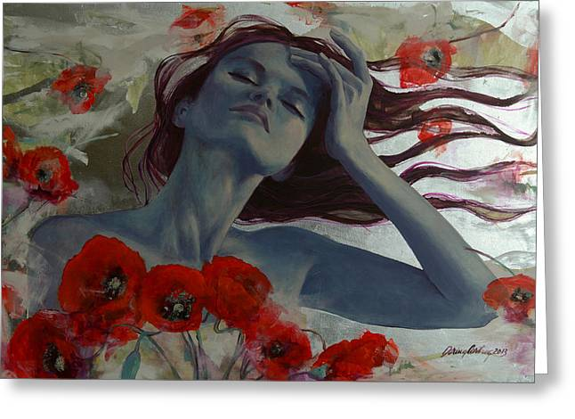 Live Paintings Greeting Cards - Romance Echo Greeting Card by Dorina  Costras