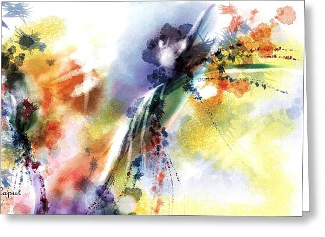 Digital Watercolors Greeting Cards - Romance Greeting Card by Francoise Dugourd-Caput