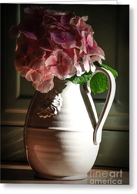 Water Jug Greeting Cards - Romance In The Dark Greeting Card by Anna Wacker