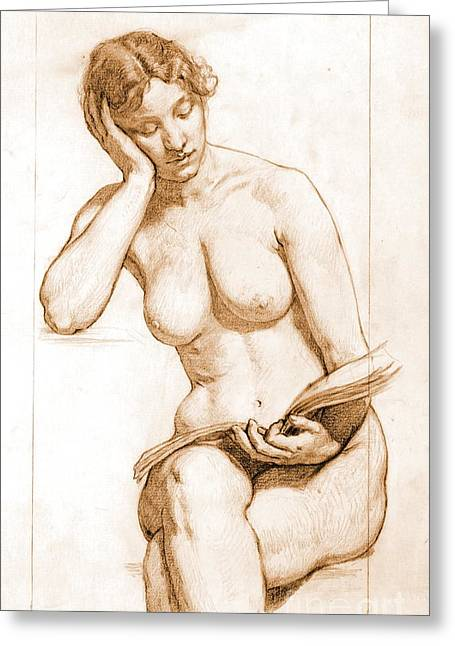 Kenyon Greeting Cards - Romance - Nude Study 1896 Greeting Card by Padre Art