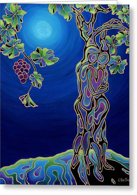 Couple Embracing Greeting Cards - Romance on the Vine Greeting Card by Sandi Whetzel