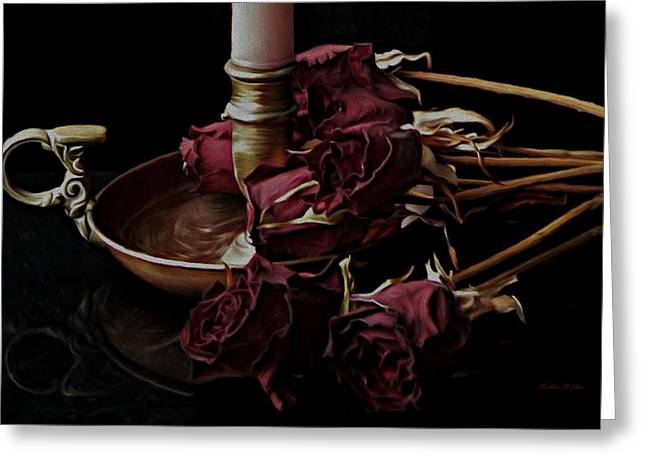 Witches Brew Greeting Cards - Romancing the Dead Roses Greeting Card by Barbara St Jean