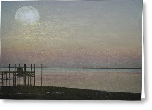Subtle Colors Greeting Cards - Romancing the Moon Greeting Card by Judy Hall-Folde