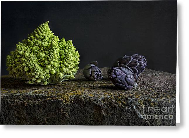 Tabletop Greeting Cards - Romanesco Greeting Card by Elena Nosyreva
