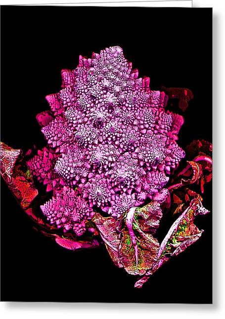 Broccoli Digital Art Greeting Cards - Romanesque Broccoli Greeting Card by Jean Marie Economen