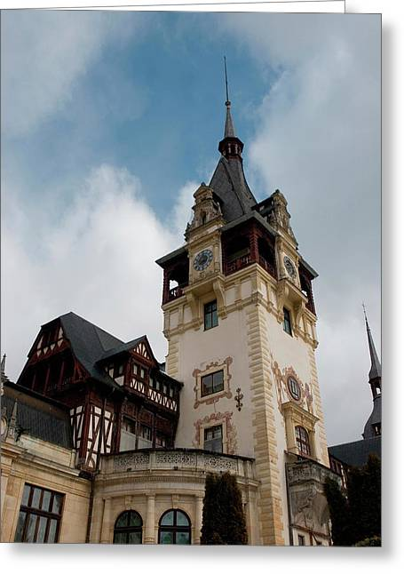 Romania Transylvania Sinaia Peles Castle Greeting Card by Inger Hogstrom