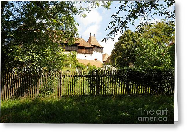 Romanian Fortified Church Greeting Card by Ramona Matei