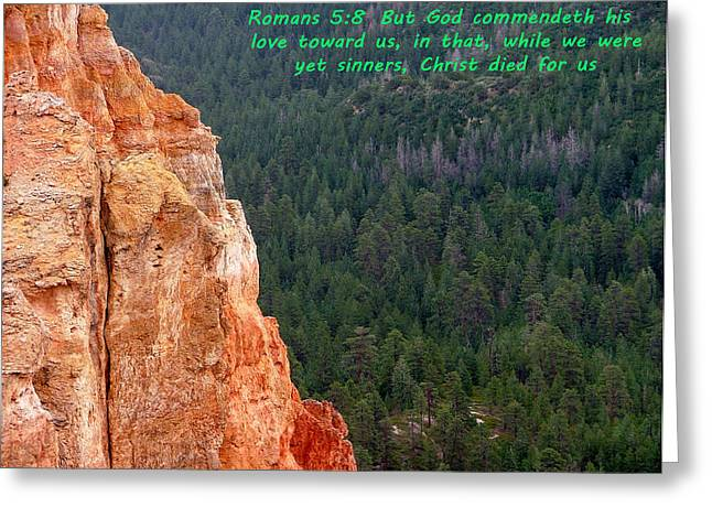 Kingjames Greeting Cards - BRYCE CANYON N. P. Romans 1-8 Greeting Card by Nelson Skinner