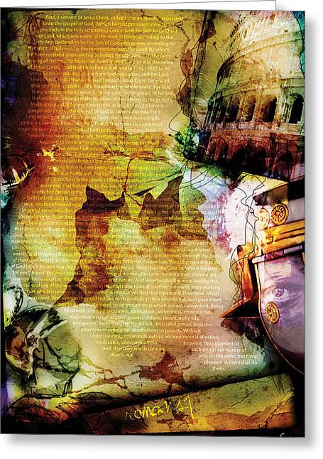 Saint Hope Greeting Cards - Romans 1 Greeting Card by Switchvues Design