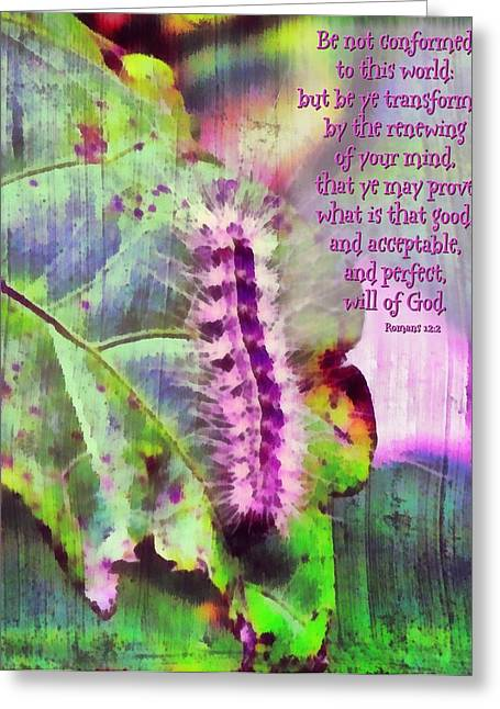 Romans 12 2 Greeting Card by Michelle Greene Wheeler