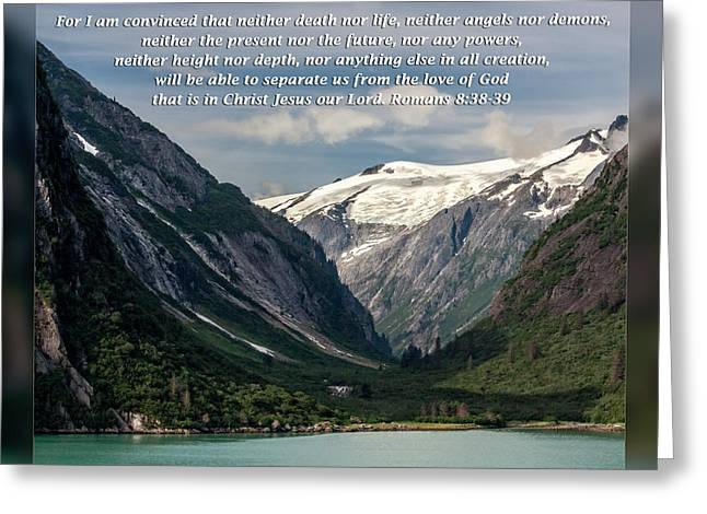 Sympathy Greeting Cards - Romans 8 38-39 Greeting Card by Dawn Currie