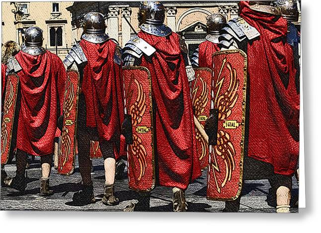 Rom Greeting Cards - Romans Greeting Card by Stefano Senise