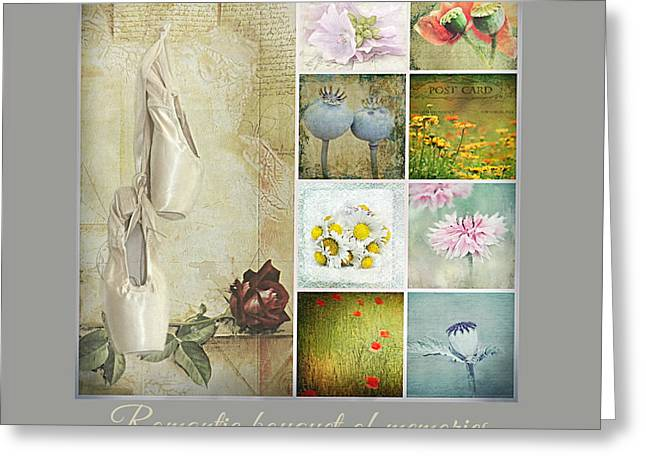Love Letter Mixed Media Greeting Cards - Romantic bouquet of memories Greeting Card by Heike Hultsch