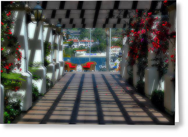 Carter House Greeting Cards - Romantic Corridor Greeting Card by See My  Photos
