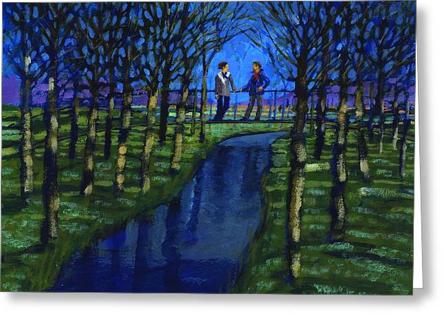Couples Photographs Greeting Cards - Romantic Encounter, 2008 Acrylic On Board Greeting Card by Paul Powis