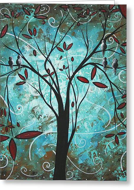 Crimson Greeting Cards - Romantic Evening by MADART Greeting Card by Megan Duncanson