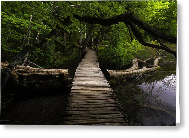 Pentecost Greeting Cards - Romantic Footbridge  Greeting Card by Jens Tischer