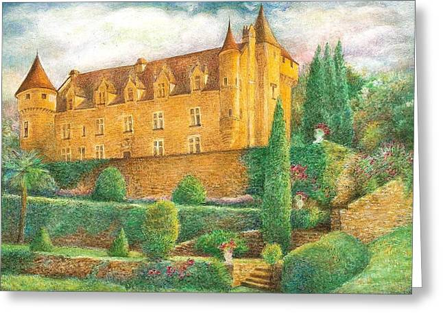 Romantic French Chateau Greeting Card by Judith Cheng