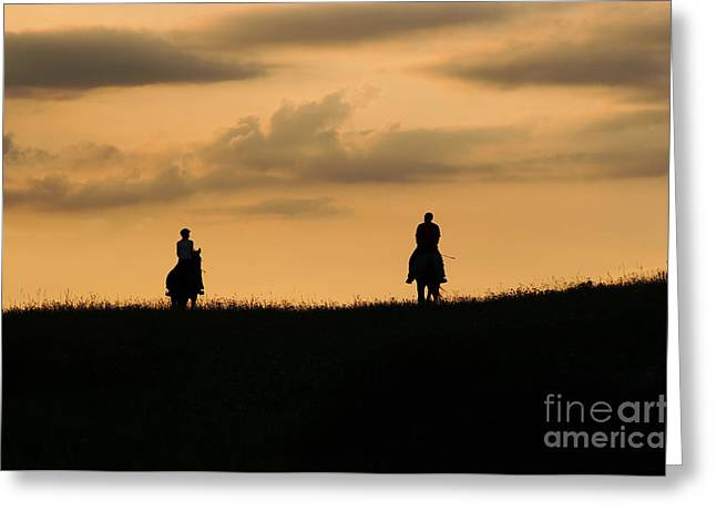 Equestrianism Greeting Cards - Romantic Horseback Ride Greeting Card by Michal Boubin