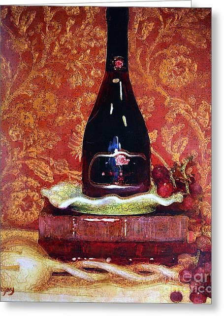 Kinkade Greeting Cards - Romantic Intrigue Greeting Card by Greg  Alexander