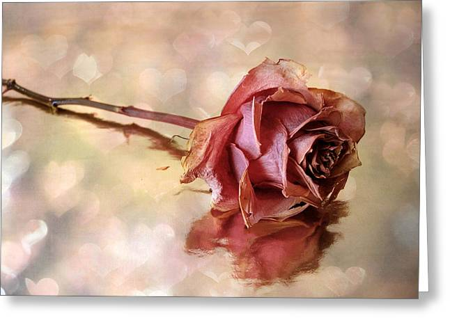 Valentines Day Greeting Cards - Romantic Rose Greeting Card by Jessica Jenney