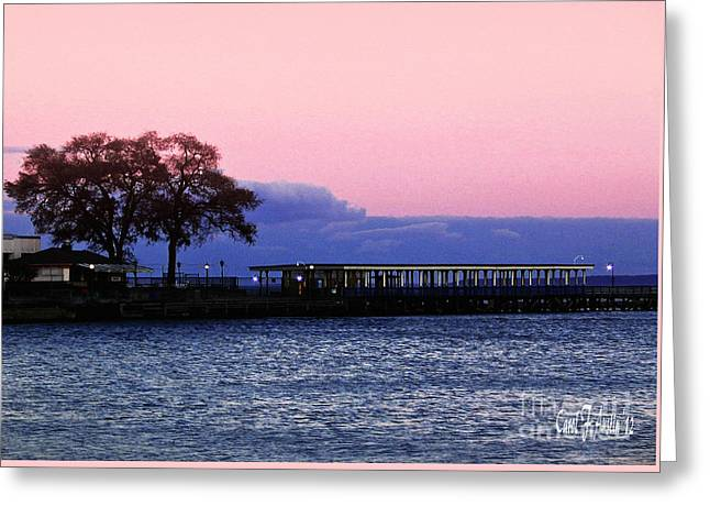 Romantic Seascape  Greeting Card by Carol F Austin
