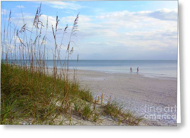 Your Choice Greeting Cards - Romantic Secluded Beach Greeting Card by Lou Ann Bagnall