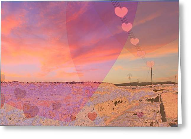 Amazing Sunset Digital Greeting Cards - Romantic Sunset Greeting Card by Augusta Stylianou