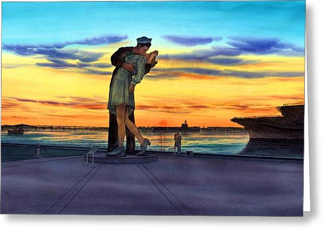 Mage Greeting Cards - Romantic Sunset Greeting Card by John YATO