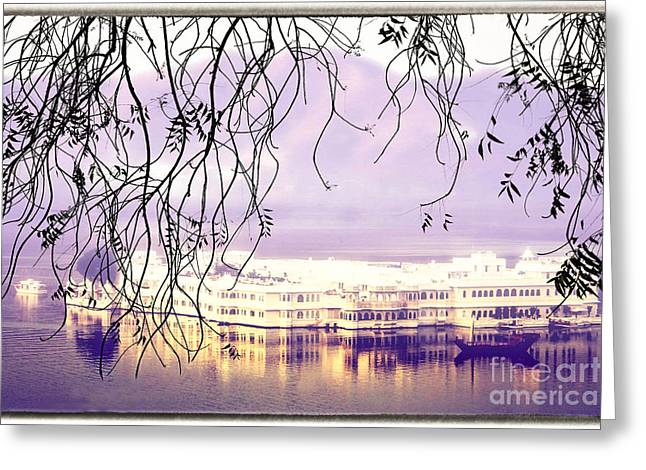 Boat Cruise Greeting Cards - Romantic Udaipur Greeting Card by Catherine Arnas