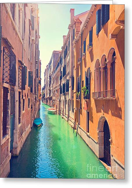Old House Photographs Greeting Cards - Romantic Venice Greeting Card by JR Photography