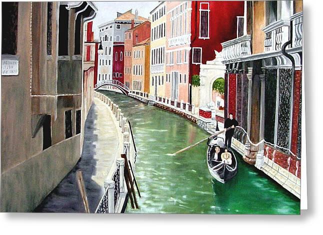 Zelma Hensel Greeting Cards - Romantic Venice Greeting Card by Zelma Hensel