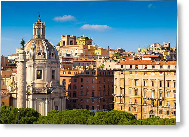The Church Greeting Cards - Rome 02 Greeting Card by Tom Uhlenberg